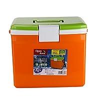 IRIS 爱丽思 CL-15 车载无电冰箱 保温箱 冷藏箱 户外烧烤保鲜箱 橙/绿色 15升(供应商直送)
