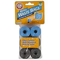 Arm & Hammer 71038 Disposable Waste Bag Refills, Assorted, 90-Pack