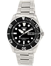 Seiko Men's 5 Automatic SNZF17K Silver Stainless-Steel Plated Self Wind Fashion Watch