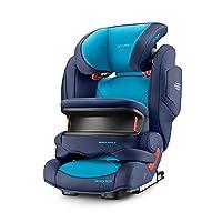 德国RECARO Monza Nova IS Seatfix Performance儿童安全座椅超级莫扎特 2017款-氙气蓝(德国进口,香港直邮)适合9kg-36kg,9个月-12岁,座椅宽大,带前置护枕,带isofix硬接口,充气头靠和音响系统。头枕高度可调,fix接口动态调节。(包邮包税)