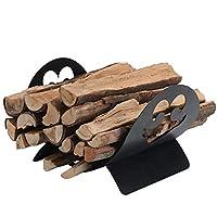 PHI VILLA 壁炉木架室内/室外柴木架储物架,用于柴木、木林和壁炉木