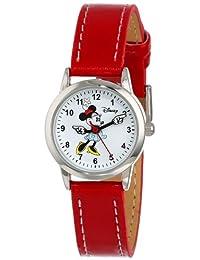Disney 女士 MN1023 米妮白色表盘红色表带