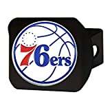 FANMATS NBA 费城 76 人队彩色挂钩 - 黑色拖车 - 黑色,球队颜色,均码