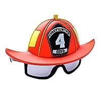 Sun-Staches 消防员服装太阳镜,消防员派对喜爱眼镜