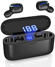 *畅销的蓝牙耳塞无线蓝牙 5.0 耳机充电宝蓝牙耳塞立体声耳机无线运动耳机内置麦克风智能手机工作/跑步/健身房