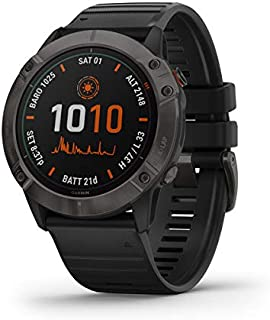 Garmin 佳明 Fenix 高级多运动 GPS 手表010-02157-20 6X Pro Solar 6X Pro Solar - Dark Gray with Black Band