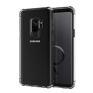 YOUYIB Galaxy s9 手机壳,透明水晶手机壳带软质 TPU 凝胶缓冲垫,适用于 Galaxy s9 黑色