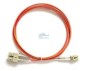 光学 SNS LC/UPC 到 SC/UPC 双工 OM2 50/125 多模式接插线SNS-LC/U-SC/U-DOM2-10M 10M/30ft