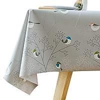 Diliba 桌布防水防油耐热pvc塑料桌布台布 茶几布 床头柜 防尘布 餐桌布 137x100 cm