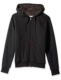 Amazon Essentials 男士夏尔巴内衬全拉链连帽羊毛运动衫