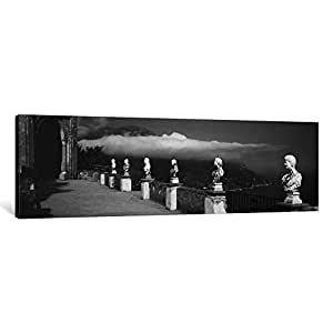 iCanvasART PIM2033-1PC6 Marble Busts Along a Walkway, Ravello, Amalfi Coast, Salerno, Campania, Italy Canvas Print by Panoramic Images, 1.5 by 36 by 12-Inch