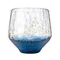 东洋佐佐木glass 江戸硝子 八千代窑 玻璃杯 不倒翁 蓝 260ml 10391