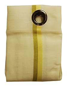 活页枪圆形聚酯纤维/粘胶纤维窗帘带 8 个孔眼 Jaune Citron/Vert Pomme 145X260 1165/80/375/145X260
