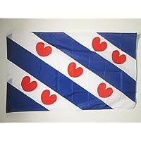 AZ FLAG 省弗利斯兰国旗 2 英尺 x 3 a Pole - Friesland 旗帜 60 x 90 cm - 横幅 2x3 英尺 孔