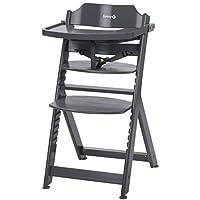 Safety 1st Timba 高腳椅,伴隨寶寶成長,由實心山毛櫸木制成,適合6個月至約 10 歲的兒童(*重 30kg)不同的款式 暖灰色