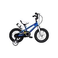 优贝 14寸儿童自行车 表演车 蓝色 3-5岁萌宝礼物 (供应商直送)