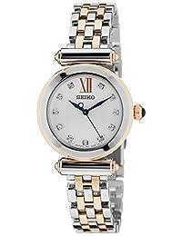 SRZ400P1 Seiko 女士石英模拟手表镀不锈钢表带 多色