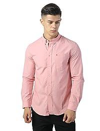 IZOD 男式 纯色衬衫长袖秋季修身帅气纯棉多色青年商务休闲衬衣 A91173SH041