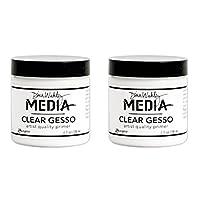 Dina Wakley Media Clear Gesso 113.4 毫升罐装- 2组 MDM46424