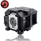 Visdia ELP LP67/V13H010L67 高级替换投影仪灯泡带外罩 适用于爱普生 投影仪