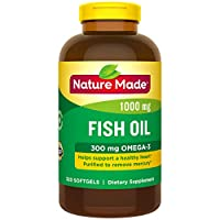 Nature Made 鱼油1000毫克软胶囊,可以为心脏提供呵护 320粒 (包装可能会有所不同)