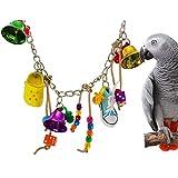 Bonka Bird Toys 1493 Bellcroc 鸟类玩具鹦鹉笼玩具笼非洲灰色亚马逊 cockatoo