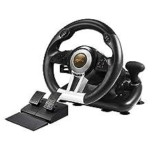 PXN V3II PC 赛车轮,YF2009 USB 赛车游戏方向盘,带踏板,适用于 Windows PC/PS3/PS4/Xbox One/Nintendo Switch