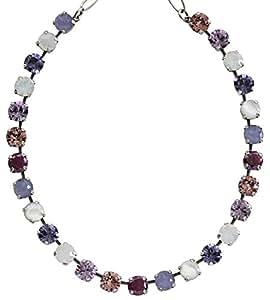 "mariana ""purple rain""银色经典形状水晶项链,3252 m1062"