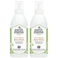 Earth Mama 自然 non-scents 嬰兒洗溫和橄欖香皂適用于敏感肌膚,34-fluid 盎司 甜橙 34-Fluid Ounce (2-Pack) 34