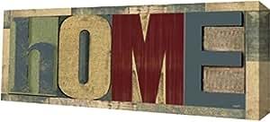 "PrintArt GW-POD-51-RB9359TR-30x12""家庭打印机块板II""由 Tara Reed Gallery Wrapped Giclee 油画艺术印刷品,76.2 x 30.48 厘米"