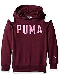 Puma 女童露肩连帽衫
