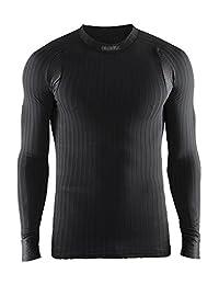 Craft 男士 绿标贴身层 运动内衣 X绿2.0 圆领长袖上衣 适合高强度运动 温度-5°C到10°C 跑步、骑行、滑雪、多运动 1904495