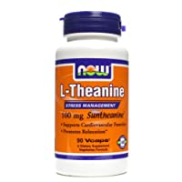 NOW Foods L-theanine, 100mg (3 Bottles)