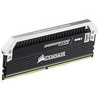 Corsair Dominator 銀灰色系列 16GB DDR4 DRAM 2666MHz C15 內存套件,適用于 2666 MT/s CMD16GX4M2A2666C15 系統