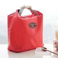 午餐包工作餐便当袋学生带饭包手提饭盒袋保温袋铝箔野餐袋小冰包酒红