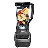 Ninja 专业72盎司(约2.13升)台式搅拌器,含1000瓦底座和全粉碎技术,适用于冰沙,冰和冷冻水果(BL610),黑色 需配变压器