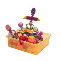 B.Toys 比乐 布莱斯特鬃毛积木 多彩触感手抓 75粒套装 带收纳盒 智力发育 感官训练  婴幼儿童益智玩具 礼物  2岁+ BX1040Z