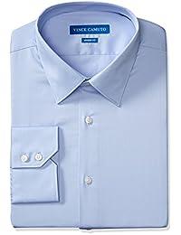Vince Camuto 男式现代修身棉缎礼服衬衫