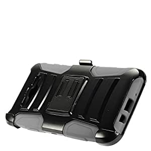 EagleCell - For Samsung Galaxy J7 (2015) / J700 - Hybrid Armor Protective Case with Stand / Belt Clip Holster 灰色/黑色