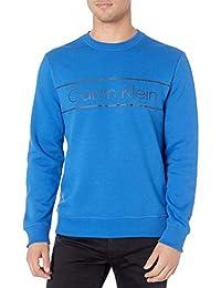 Calvin Klein 男士经典 CK 标志羊毛圆领运动衫