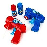 Boley Friction 泡泡枪 – 2 只装摩擦动力泡枪,适合儿童和幼儿 – 泡泡机喷枪,适合男孩和女孩