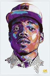 Get Motivation Chance The Rapper 海报 40.64 x 63.5 厘米,卷边印刷贴纸复古无框墙壁艺术礼物 40x63 厘米