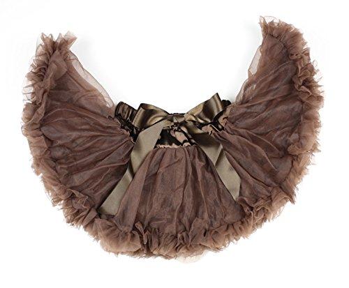 プレーンブラウン新生児ペットスカートスカート婦人服Nb-12m