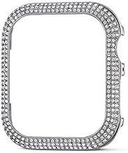SWAROVSKI 施華洛世奇 40 毫米閃亮表殼兼容蘋果手表,銀色,40