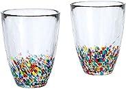 ADERIA tsugaruvidro 玻璃杯 成对礼物 nebuta 300ml 盒装 日本制造 FS-71550