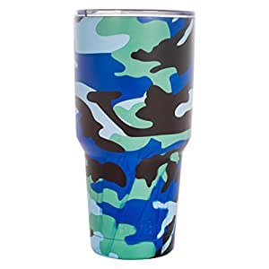 BonBon 30oz 旅行杯真空隔热杯 蓝色迷彩