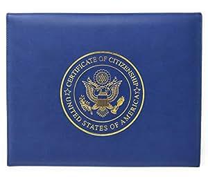 U.S. 公民证书夹和自然化证书封面文件夹框架独特爱国礼物 *