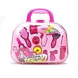 WonderPlay 女童化妆盒*装*美发沙龙和 12 件化妆配件适合女孩 粉色-1