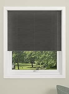 DEBEL 100 x 130 厘米 * 涤纶伦敦百褶百叶窗,黑色_父色 灰色 100 x 130 cm 741850099