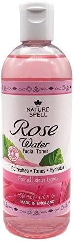 Nature Spell Pure Rose 水面爽肤水 100毫升 - 恢复皮肤 ph 平衡,适合所有肤质 - 纯素 - 英国制造